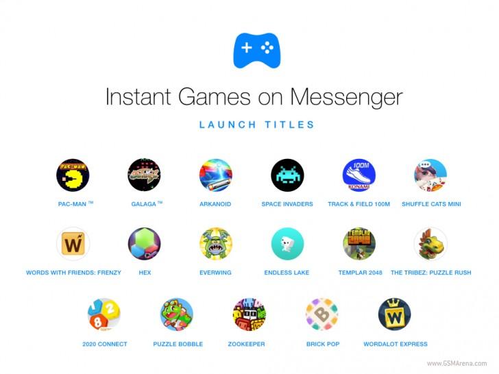 Permainan instan sekarang dibangun ke FacebookMessenger